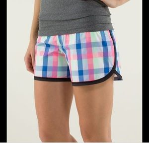 Lululemon Plaid Speed Shorts